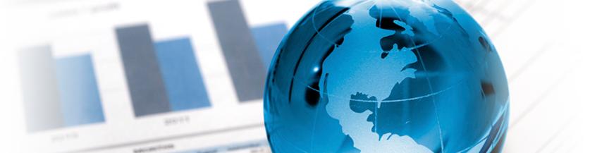 globe and charts